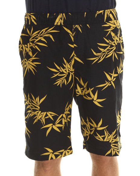 Huf - Men Black,Gold Bamboo Easy Shorts