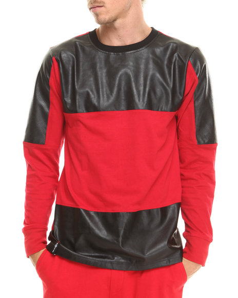 Enyce - Men Red Speedy L/S T-Shirt - $14.99