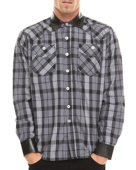Enyce Black Button-Downs