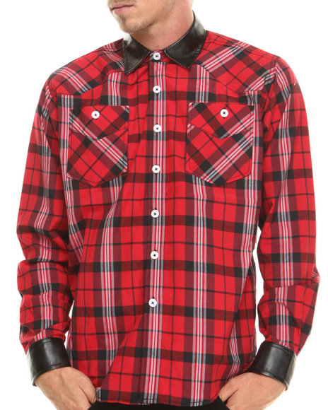 Enyce - Men Red Anthony L/S Button-Down