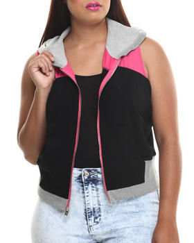 Baby Phat - French Terry Sleeveless Hoodie (Plus)