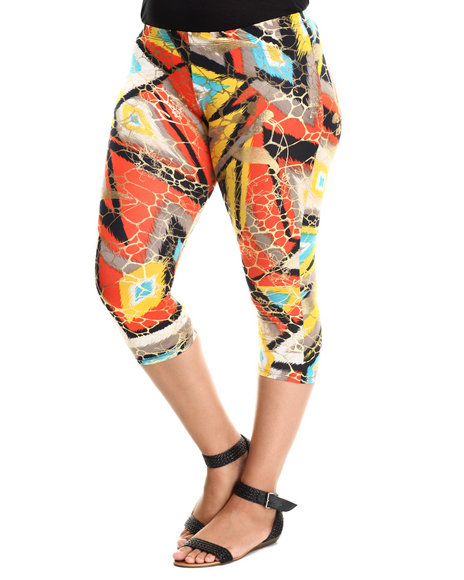 Fashion Lab - Women Multi Printed Leggings (Plus)