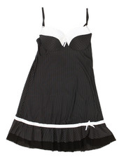 Intimates & Sleepwear - Tuxedo Stripe Chemise (Plus)