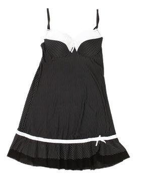 DRJ Lingerie Shoppe - Tuxedo Stripe Chemise (Plus)