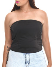 Women - Zip Trim Bustier Crop Top