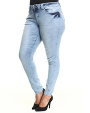 Fashion Lab - Corset Tie Back Skinny Jean (Plus)