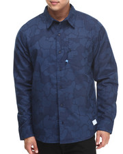 Button-downs - Gonz Camo Jacquard Woven Shirt