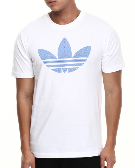 Adidas White Museum Pop Logo Fill Tee