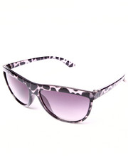 DRJ Sunglasses Shoppe - Mysterio Leopard Trim Sunglasses