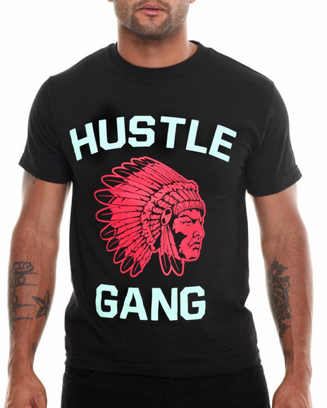 Hustle Gang - Men Black,Green,Red The Game Tee