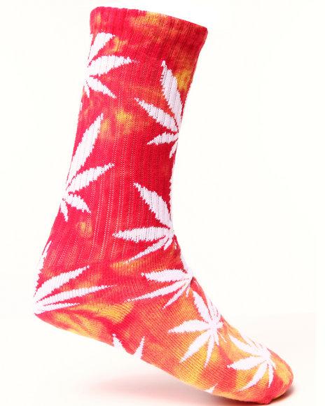 Huf Tie Dye Plantlife Crew Socks Pink
