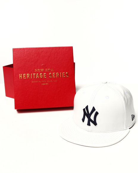 New Era - Men White Spike Lee Leather 5950 Fitted Hat (Limited Edition)