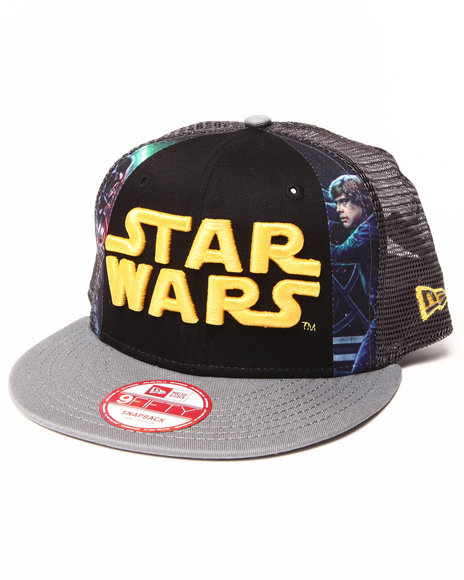 New Era Black Star Wars Hero Slice Snapback Hat