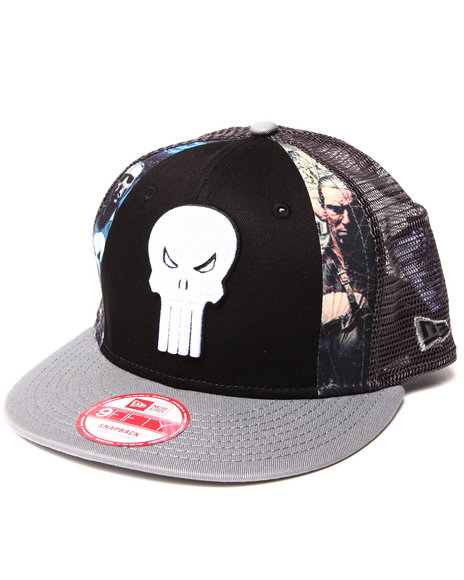 New Era Black Hero The Punisher Slice Snapback Hat