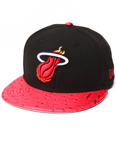 New Era - Men Red Miami Heat Reptile Mix 950 Strapback Hat