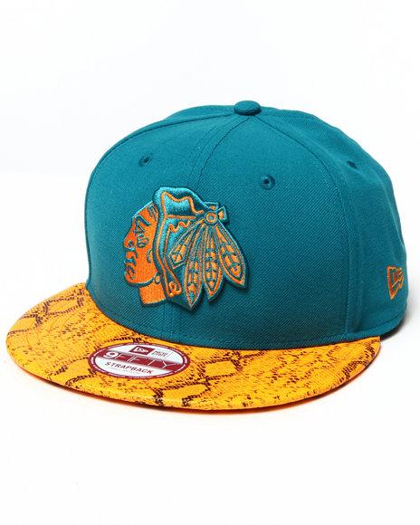 New Era - Men Orange Chicago Blackhawks Reptivize 950 Strapback Hat