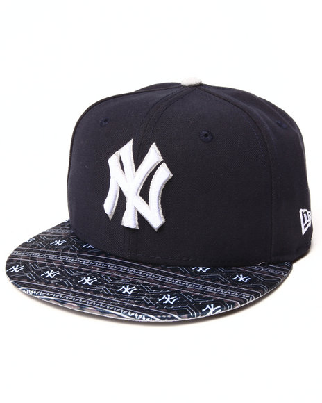 New Era - Men Navy New York Yankees Fair Isle Flip 5950 Fitted Hat