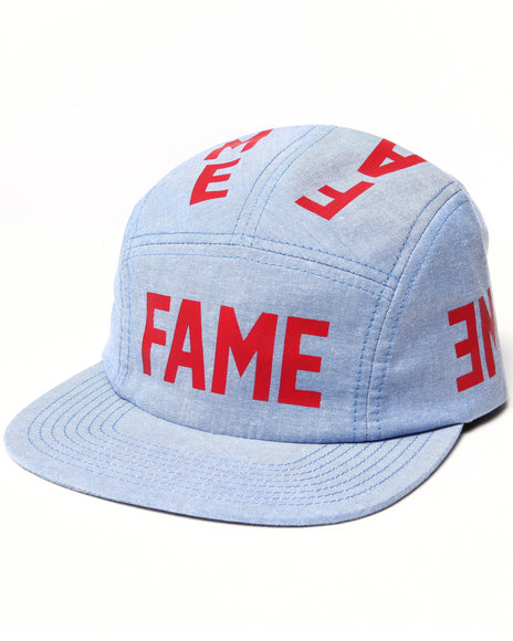 Hall Of Fame Reflect Chambray 5-Panel Cap Red