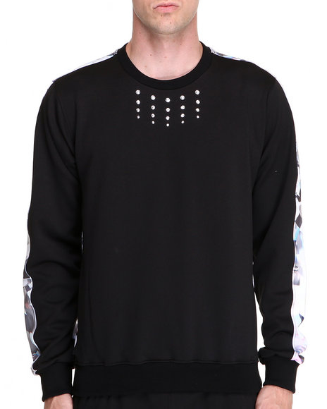 Djp Outlet Black Pullover Sweatshirts