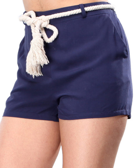 Djp Outlet - Women Navy Bb Dakota Cailyn Nautical Shorts