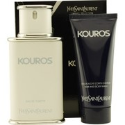 Men - KOUROS EDT SPRAY 3.3 OZ & HAIR AND BODY WASH 3.3 OZ (TRAVEL OFFER)