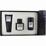 Men - VINTAGE BLACK EDT SPRAY 3.4 OZ & AFTERSHAVE BALM 3.4 OZ & DEODORANT STICK 2.5 OZ