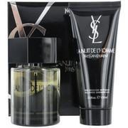 Men - LA NUIT DE L'HOMME YVES SAINT LAURENT EDT SPRAY 3.4 OZ & ALL OVER SHOWER GEL 3.3 OZ (TRAVEL OFFER)