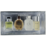 Men - CALVIN KLEIN VARIETY 4 PIECE MENS MINI VARIETY WITH ETERNITY & OBSESSION & CK ONE & ESCAPE AND ALL ARE MINIS .5 OZ