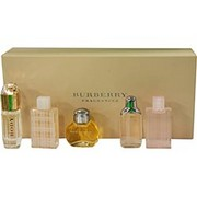 Women - BURBERRY VARIETY 5 PIECE WOMENS VARIETY WITH BURBERRY & BURBERRY BODY & BURBERRY BRIT & BURBERRY BRIT SHEER & BURBERRY THE BEAT & ALL ARE  MINIS .15 OZ EACH