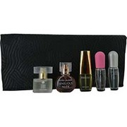 Women - ESTEE LAUDER VARIETY 5 PIECE MINI VARIETY WITH BEAUTIFUL & PLEASURES & PLEASURES EAU FRAICHE & PURE WHITE LINEN & SENSOUS NUDE & COSMETIC BAG AND ALL ARE EDP SPRAY MINIS