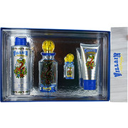 Men - ED HARDY VILLAIN EDT SPRAY 4.2 OZ & BODY SPRAY 6 OZ & HAIR & BODY WASH 3 OZ & EDT SPRAY .25 OZ MINI
