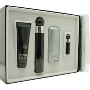 Men - PERRY ELLIS 360 BLACK EDT SPRAY 3.4 OZ & AFTERSHAVE BALM 3 OZ & DEODORANT STICK ALCOHOL FREE 2.75 OZ &  EDT SPRAY .25 OZ MINI