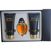 Women - BASIC BLACK COLOGNE SPRAY 3.4 OZ & BODY LOTION 6.8 OZ & HAND CREAM 6.8 OZ