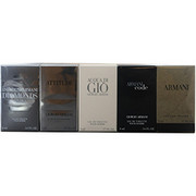 Men - GIORGIO ARMANI VARIETY 5 PIECE MENS VARIETY WITH ARMANI CODE & ARMANI & ACQUA DI GIO & ATTITUDE & EMPORIO ARMANI DIAMONDS AND ALL ARE EDT MINIS