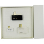 Women - PRADA L'EAU AMBREE EAU DE PARFUM SPRAY 1.7 OZ & BODY LOTION 3.4 OZ & EAU DE PARFUM .2 OZ MINI