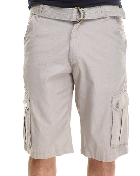 Akademiks - Men Grey Herringbone Twill Shorts - $21.99