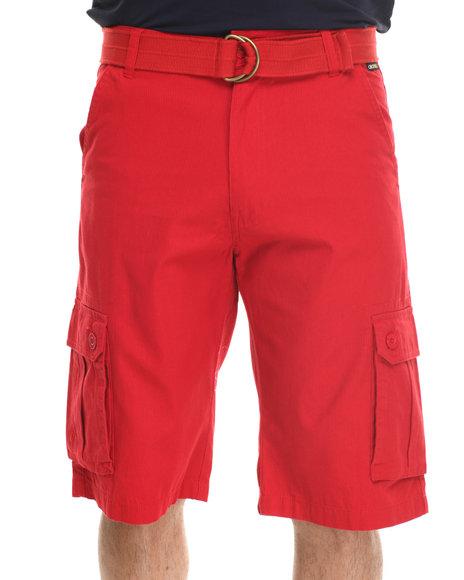 Akademiks - Men Red Herringbone Twill Shorts