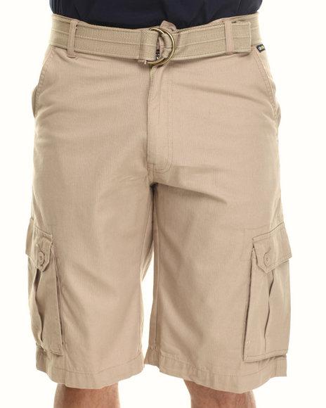 Akademiks - Men Khaki Herringbone Twill Shorts - $27.99