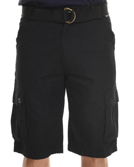 Akademiks - Men Black Herringbone Twill Shorts - $34.99