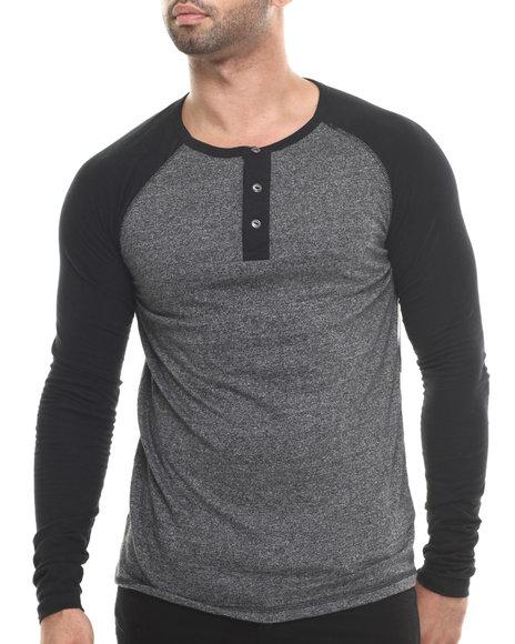 Buyers Picks - Men Grey Maerick L/S Henley Shirt