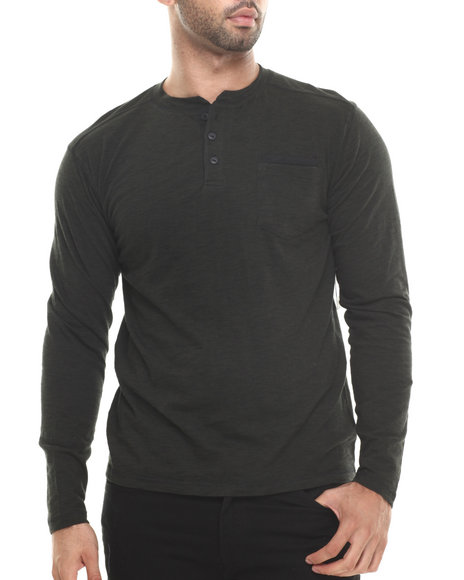 Buyers Picks - Men Green Bitter End Striped L/S Shirt - $20.99
