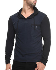 Buyers Picks - 2-Tone Pique Henley Hoody