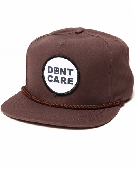 Don't Care Men Standard Snapback Cap Brown