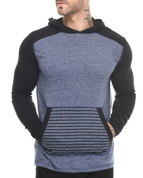 Buyers Picks - Men Blue Grindle Pullover Jersey - $25.99