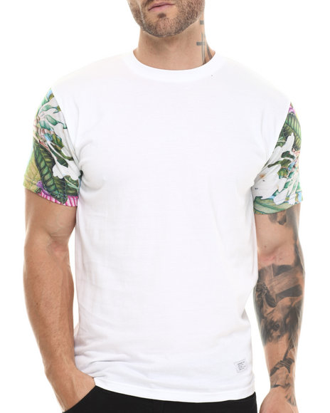 Akomplice White Tropical Parrot Sleeved Tee