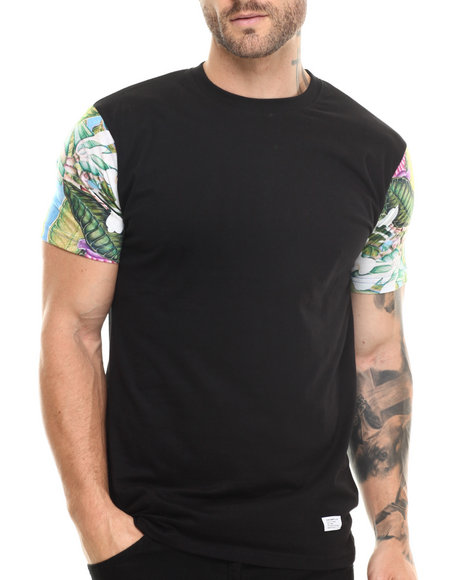 Akomplice Black Tropical Parrot Sleeved Tee