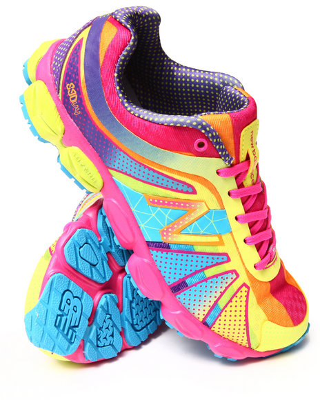 New Balance - Girls Multi Nb 890V4 Rainbow Sneakers (3.5-7)