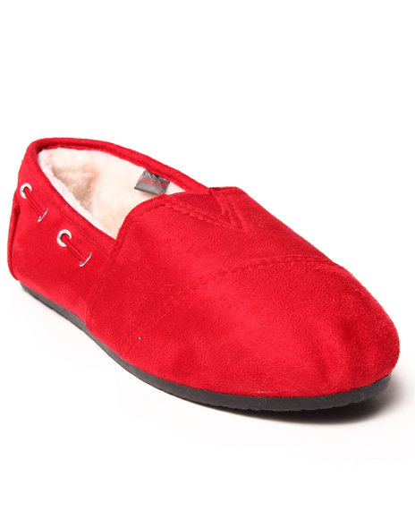 Apple Bottoms - Women Red Chesmuy Faux Suede Casual Sneaker