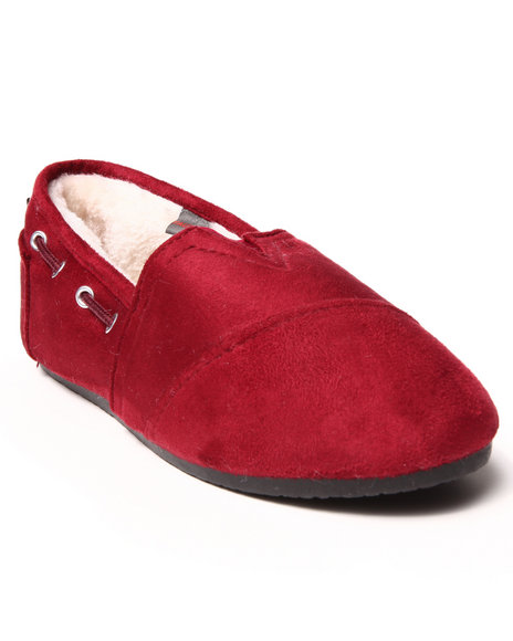 Apple Bottoms - Women Dark Red Chesmuy Faux Suede Casual Sneaker - $10.99