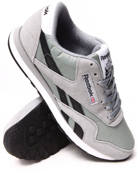 Reebok Grey Classic Nylon R13 Sneakers